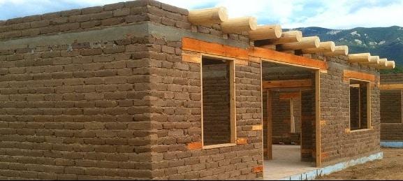 Earthen Block House Construction