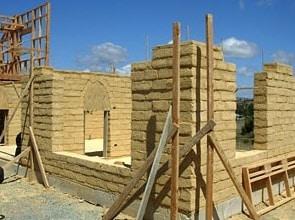 Earthen Block Wall Construction