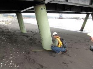 Liquefied Soil Around Bridge Piers