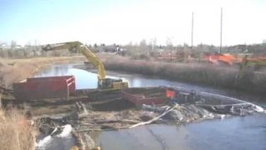 Sanitary Sewer Crossing Under Waterway