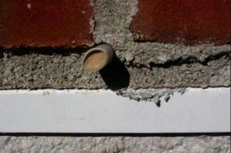 Opening Weep Holes in Masonry Walls