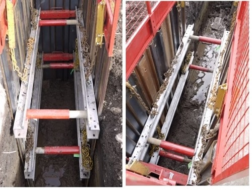 Hydraulic Waler Frame Movable excavation Support
