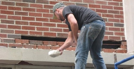 Replacement of Deteriorated Masonry Walls