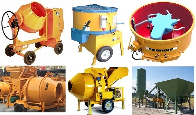 Different Types of Concrete Mixer or Concrete Mixing Machines