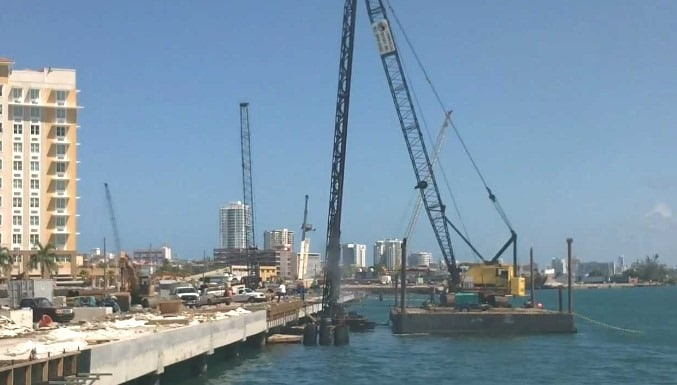 Driving Piles Over Water