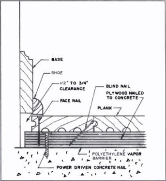 Concrete Slab Preparation for Wooden Flooring