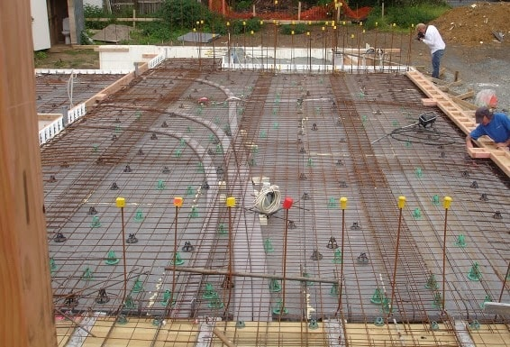 Electrical Conduits Embedded in Concrete Floor Slab