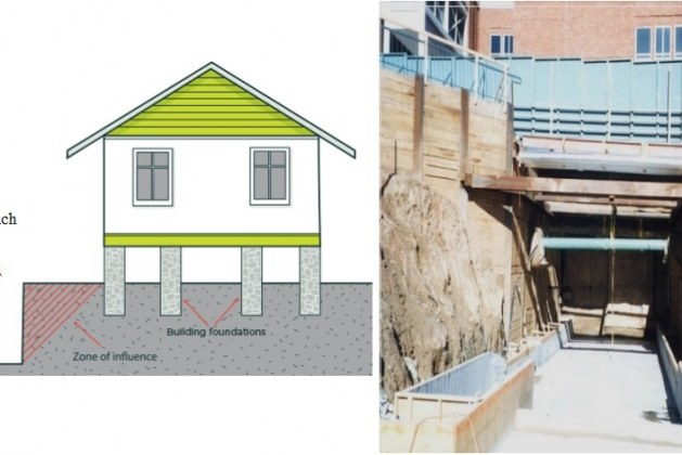 Determine Effect of Trench Excavation on Nearby Buildings by Rule of Thumb