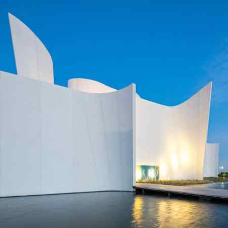 Building constructed using white cement.