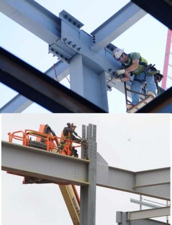 Bolted steel construction