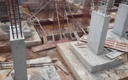 Reinforced concrete footing