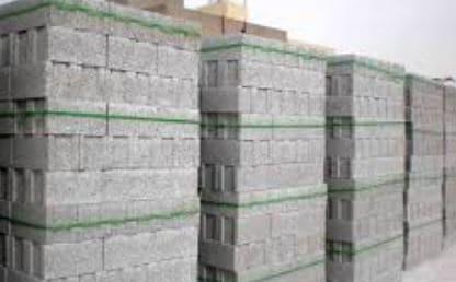 Stacked sandcrete block