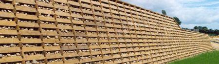 Timber Crib retaining wall
