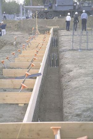 completion of site preparation