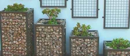 gabions used for aesthetic purpose