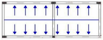 Load distribution mechanism from one way slab to supporting member