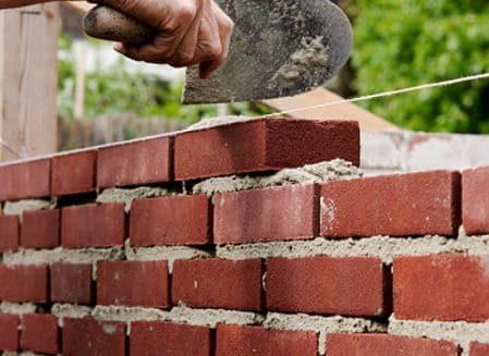 Brick work in cement