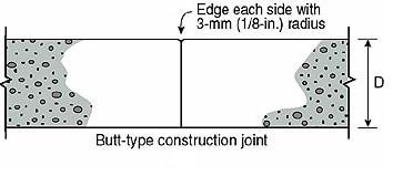 Butt type construction joint