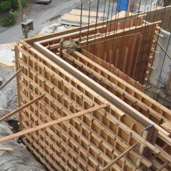 Wood Formwork for Concrete Wall Construction