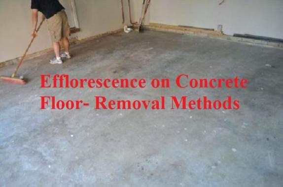 Efflorescence on Concrete Floor-Removal methods