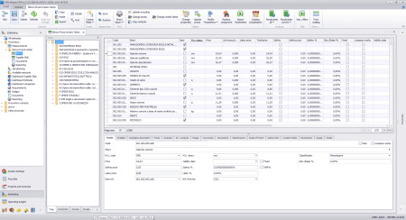 User interface of Estimate software