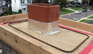 Reinforcement for Chimney Crown