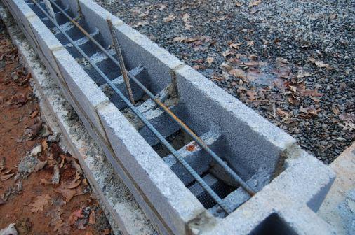 Bond Beam Block Installation and Reinforcement Placement