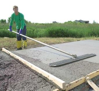 Finishing Concrete Slab for a Shed