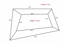 How to calculate volume of quandrilateral / Irregular