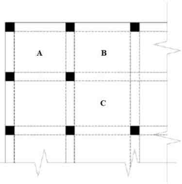 Plan of a Typical Two-way Slabs Floors with Beams on all Lines of Columns