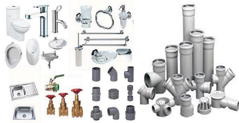 Plumbing And Sanitary Items Used In Building Construction