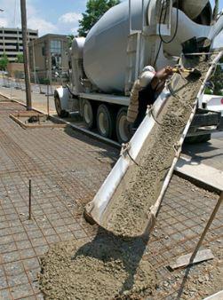 Chutes Used to Pour Concrete