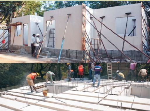 Construction with GFRG Panels
