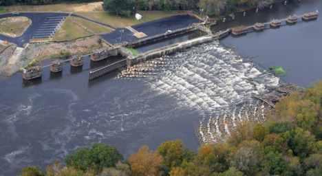 Rock Ramp Fishway, Cape Fear River Dam, USA