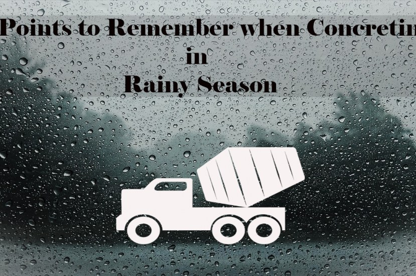 8 Points to Remember when Concreting in Rainy Season