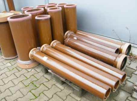 Opaque Glazed Sanitary Pipes