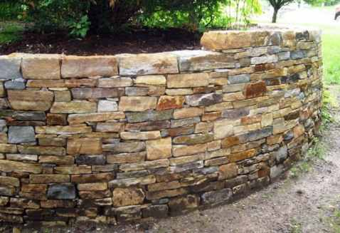 Quartzite Retaining Wall