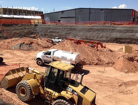 Mass Grading of Construction Site