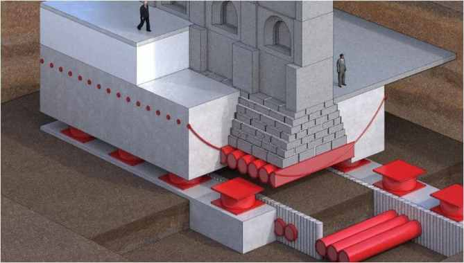 base isolation for salt lake temple structure