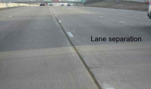Lane Separation Due to Inadequate Tie Bars