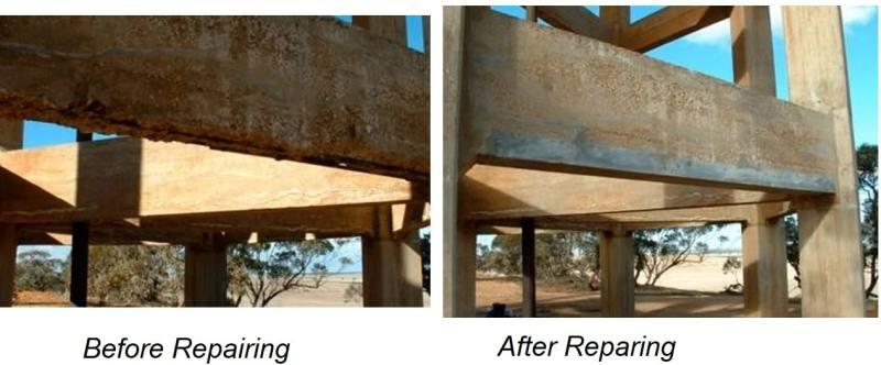 Repair of Concrete Structure Using Magnesium Phosphate Concrete