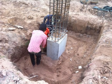 Filling in Foundation