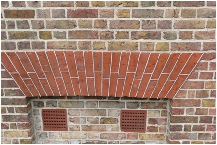 Flat Arches constructed using Brick Mansonry