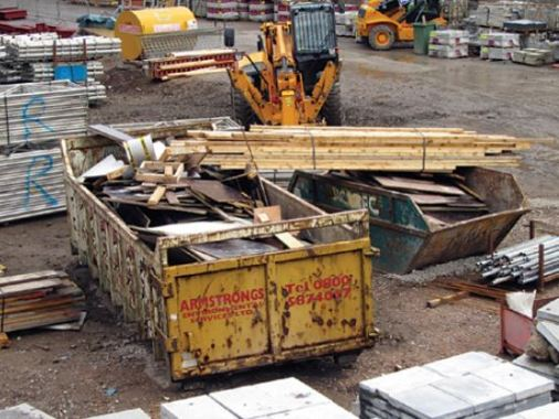 Separation of Waste Materials From Construction Site; Good Construction Practice