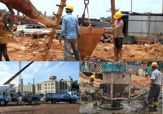 How to Pour Concrete of Pile Foundation