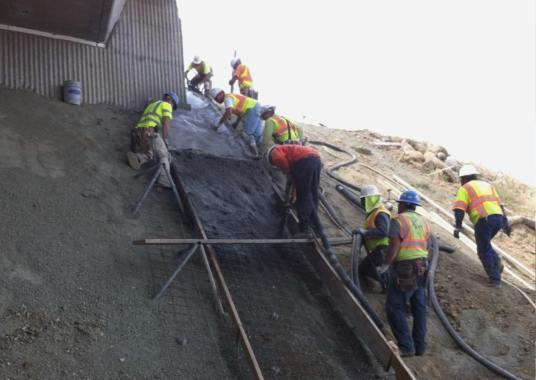 How to Pour Concrete on a inclined Surface