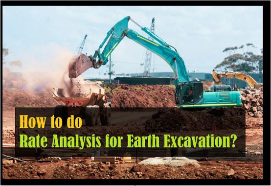 How to do rate analysis of earth excavation