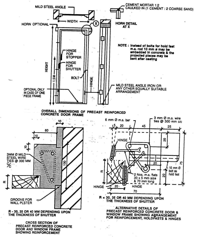 Details of Precast Frames