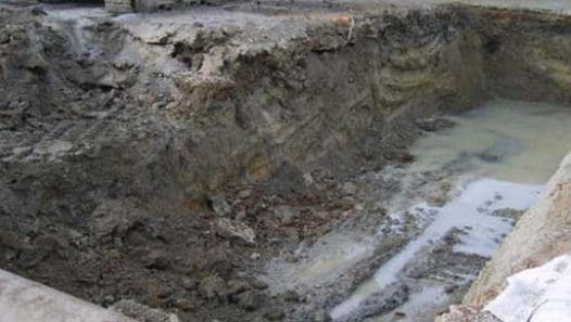 Groundwater in Excavation Area