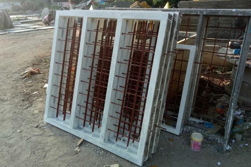 How to Cast and Fix Precast Concrete Door and Window Frames?